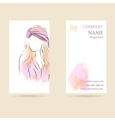 Business card vertical vector