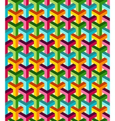 Abstract isometric 3d colorful pattern background vector