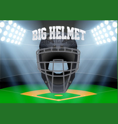 background night baseball stadium vector image vector image