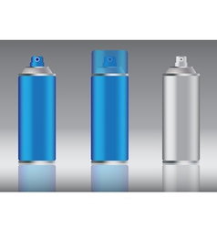 blue spray can vector image
