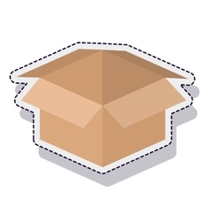 box carton packing isolated icon vector image vector image