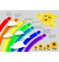 Cartoon rainbow infographics vector