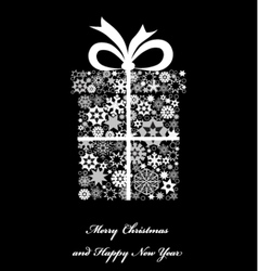 Christmas gift boxe from snowflakes vector image vector image