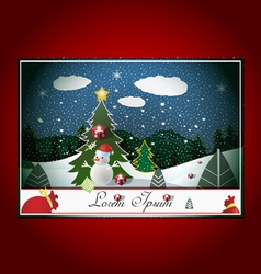 christmas time vector image vector image