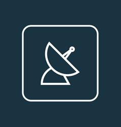 communication antenna outline symbol premium vector image vector image