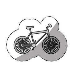Contour bicycle transportation image vector