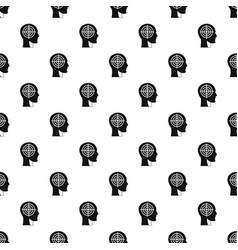 Crosshair in human head pattern vector