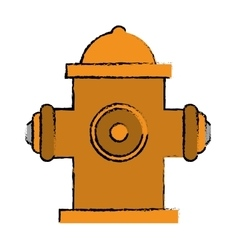Drawing yellow fire hydrant fire fighting vector