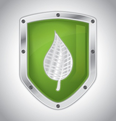 Eco-friendly floral security shield vector