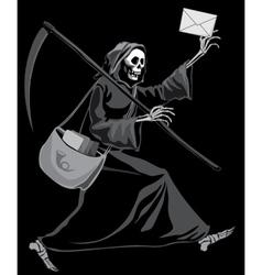 Grim reaper postman vector