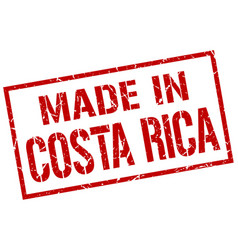 Made in costa rica stamp vector