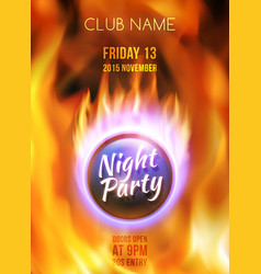 Night Club Colorful Flyer Template vector image