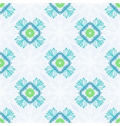 pattern with stylized flowers in thin lines vector image vector image