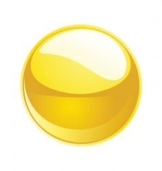 shiny sphere 02 yellow vector image