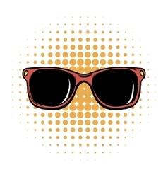 Sunglasses comics icon vector image vector image