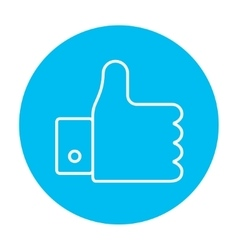 Thumb up line icon vector image