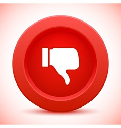 thump up red button vector image vector image