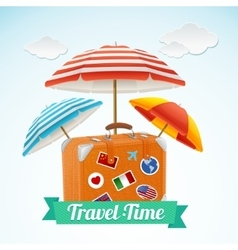 Travel concept banner card vector