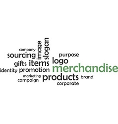 Word cloud merchandise vector