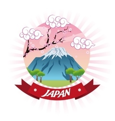 Landscape japan culture design vector