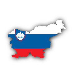 Map and flag of slovenia vector