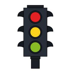 color image traffic light element of street vector image