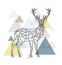 Abstract polygonal deer geometric style vector