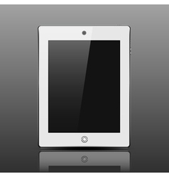 Tablet computer white color vector