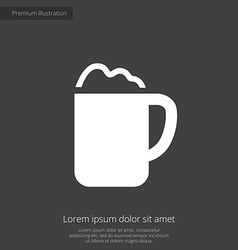Cappuccino premium icon white on dark background vector