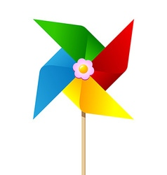 Colorful paper pinwheel vector