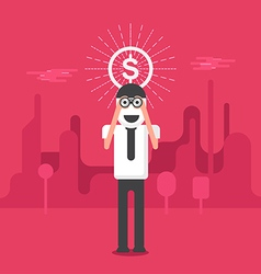 Business vision money concept vector