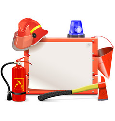 Firefighter Board vector image
