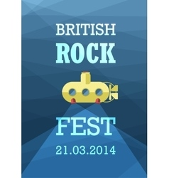 British rock vector