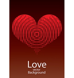 Love red heart background vector
