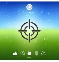 aim icon symbol vector image vector image