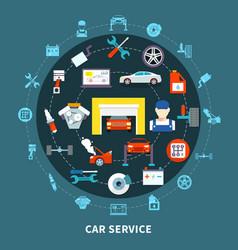 Auto service design concept vector