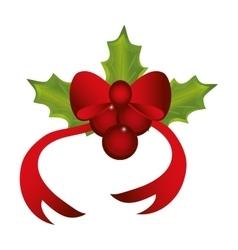 Boowtie and leaves christmas season design vector