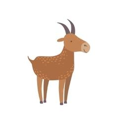 Brown Goat Standing vector image