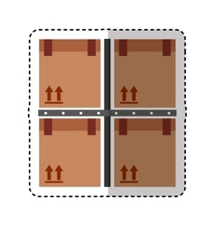 carton boxes packing icon vector image vector image