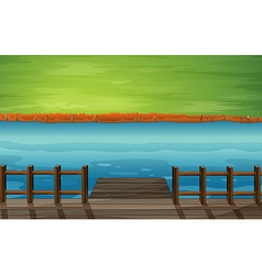 Cartoon River Dock vector image vector image