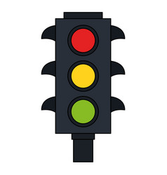 color image traffic light element of street vector image