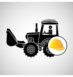 construction truck concept helmet design vector image