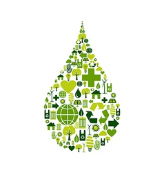 Drop symbol environmental icons vector