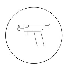 Ear piercing gun icon outline single tattoo icon vector