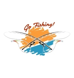 Go Fishing Emblem vector image vector image