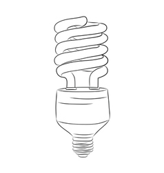 hand-drawn lightbulb vector image vector image