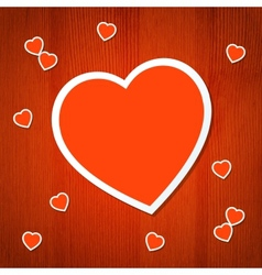 Heart back 7 vector image