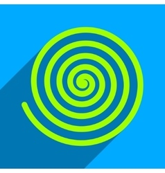 Hypnosis flat square icon with long shadow vector