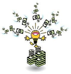 Ideas making money vector