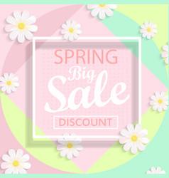 Modern geometric pastel spring sale design vector